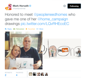 Mark Horvath, Haley Lewis, @home, drawing