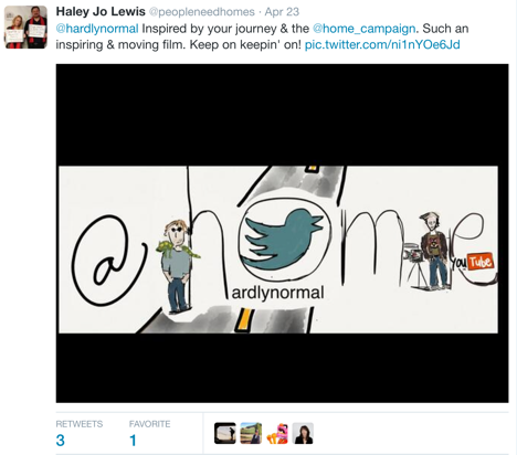 mark horvath haley lewis twitter drawing @home film
