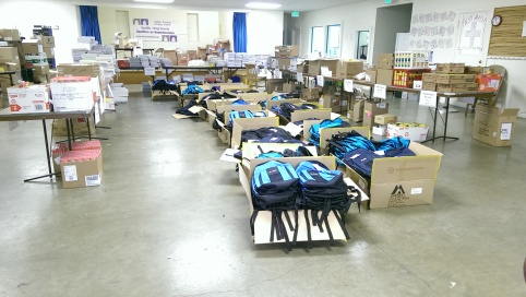 Backpacks and supplies for Project Cool