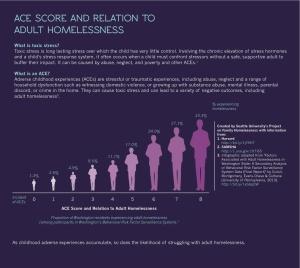 ACE score, adult homelessness, ACE chart