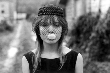 "Tiny blowing a bubble (during ""Streetwise""), Seattle, 1983"
