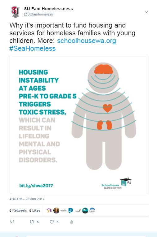 #SeaHomeless tweet-toxic stress