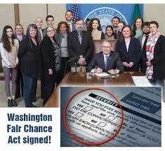 Gov Inslee Signs Fair Chance Act