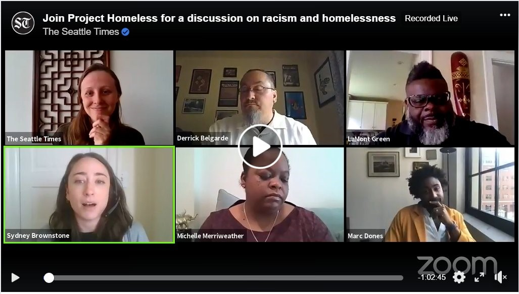 Project Homeless Racism and Housing Zoom